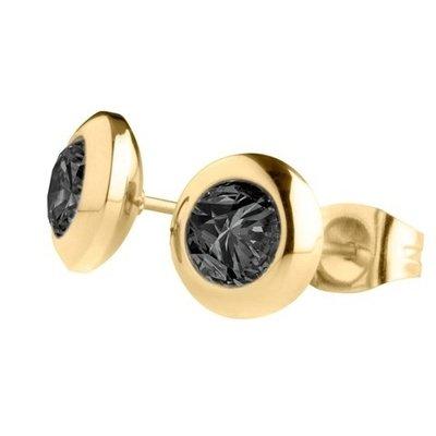 MelanO Magnetic Oorbellen Black Goud
