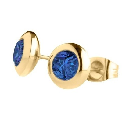 MelanO Magnetic Oorbellen Blue Goud