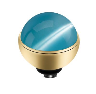 MelanO Twisted Cateye Setting Edelstaal Goud Light Blue