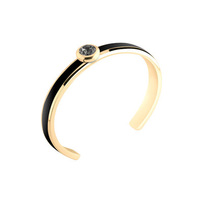 Melano Vivid Resin Bangle Edelstaal Black Goudkleurig