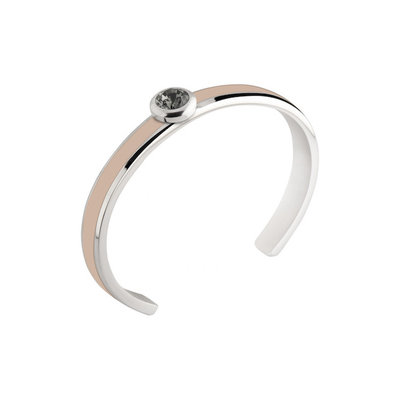 MelanO Vivid Resin Bangle Edelstaal Nude Zilver