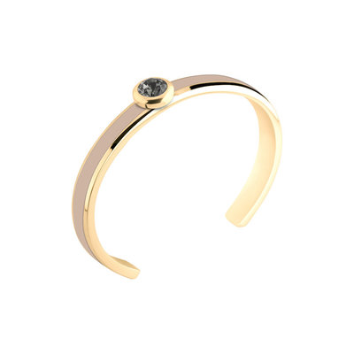 MelanO Vivid Resin Bangle Edelstaal Nude Goud