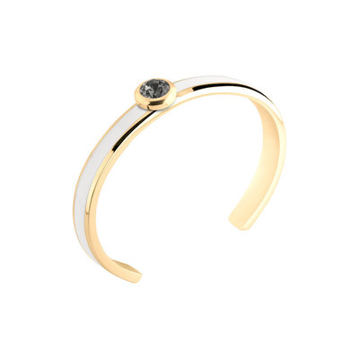 MelanO Vivid Resin Bangle Edelstaal White Goud