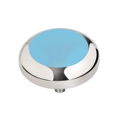 Melano Vivid Meddy Edelstaal Zilverkleurig Light Blue