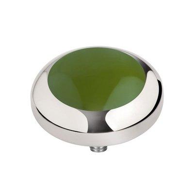 Melano Vivid Meddy Edelstaal Zilverkleurig Olive