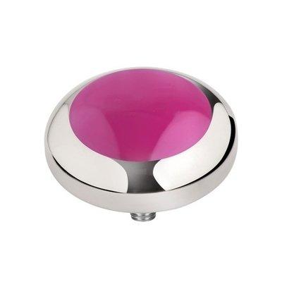 Melano Vivid Meddy Edelstaal Zilverkleurig Pink