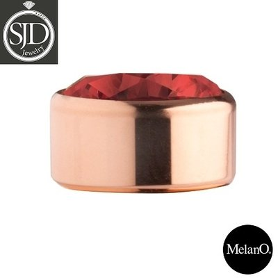 MelanO Stainless Steel Setting Rose Gold Zirkonia China Red