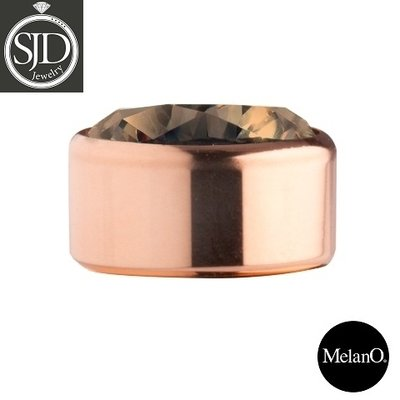 MelanO Stainless Steel Setting Rose Gold Zirkonia Coffee