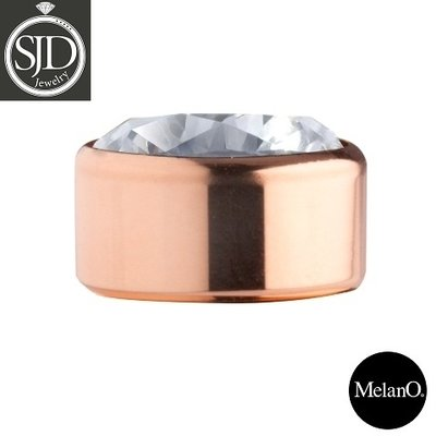 MelanO Stainless Steel Setting Rose Gold Zirkonia Crystal