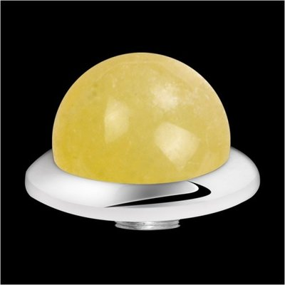 MelanO Stainless Steel Setting Low Ball Yellow Calcite