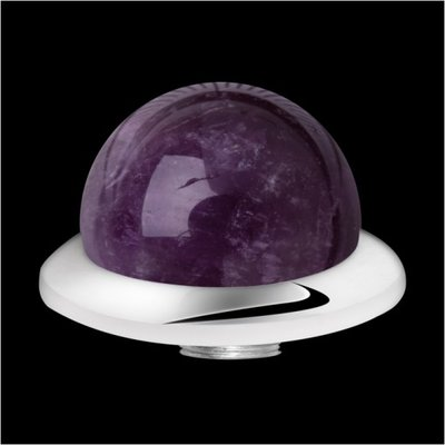 MelanO Stainless Steel Setting Low Ball Amethyst