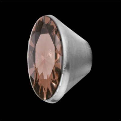 MelanO Stainless Steel Setting Conisch Smoked Topaz