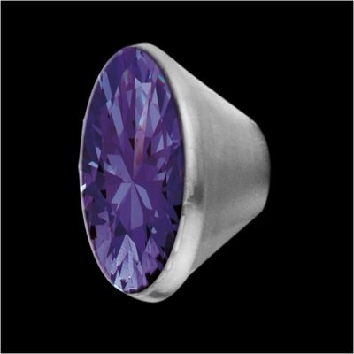 MelanO Stainless Steel Setting Conisch Purple