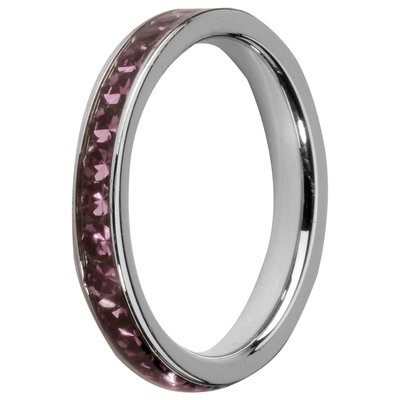 Melano Friends Side Ring, Zirkonia Stones Amethyst