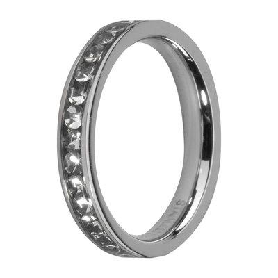 Melano Friends Side Ring, Zirkonia Stones Crystal