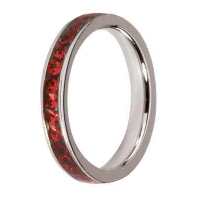 Melano Friends Side Ring, Zirkonia Stones Light Siam