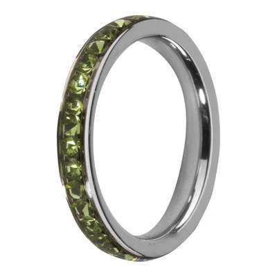 Melano Friends Side Ring, Zirkonia Stones Peridot