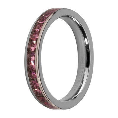 Melano Friends Side Ring, Zirkonia Stones Rose