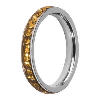 Melano Friends Side Ring, Zirkonia Stones Topaz