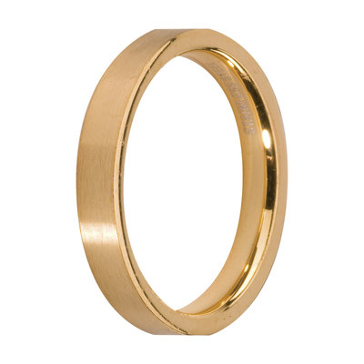 MelanO Steel Side Ring Goldplated, Mat