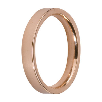 MelanO Steel Side Ring Rose Goldplated, Mat