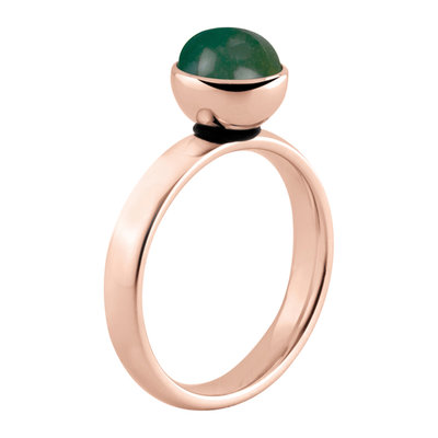 MelanO Twisted Tracey Ring Edelstaal Rose Goud