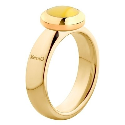MelanO Vivid Ring Vicky 6mm Edelstaal Goud