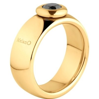 MelanO Vivid Ring Vicky 8mm Edelstaal Goud