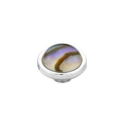 MelanO Vivid Meddy Edelstaal Zilver Abalone 8mm