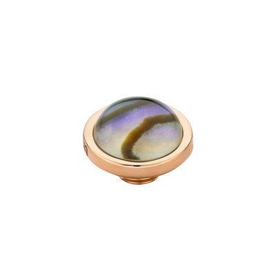 MelanO Vivid Meddy Edelstaal Rose goud Abalone 8mm