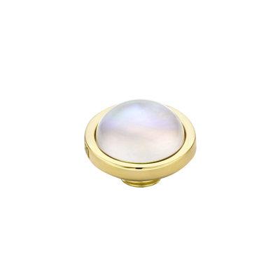 MelanO Vivid Meddy Edelstaal Goud Sea Shell 8mm