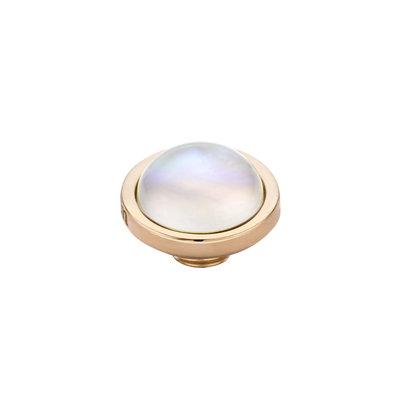MelanO Vivid Meddy Edelstaal Rose goud Sea Shell 8mm