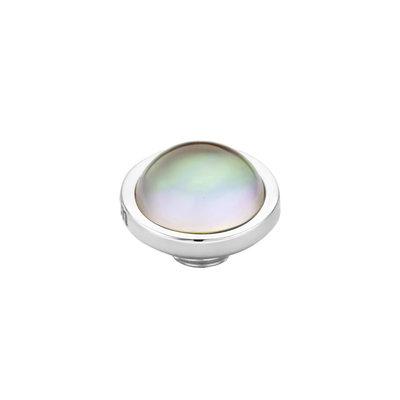 MelanO Vivid Meddy Edelstaal Zilver Sea Shell 8mm