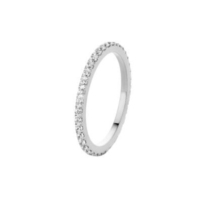 Melano Friends Ring Sade Edelstaal Zilverkleurig Zirkonia Crystal