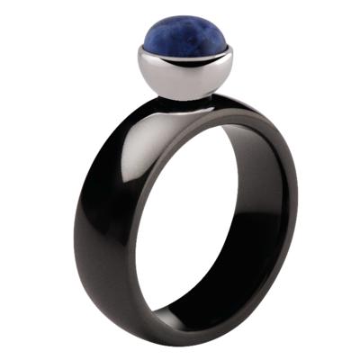 MelanO Twisted Tracey Ring Keramisch Black