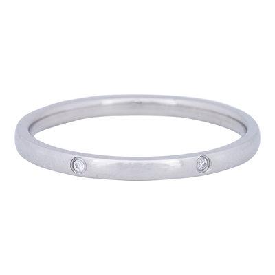 iXXXi Ring 2mm Edelstaal Zilver Elegance