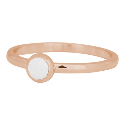 iXXXi Ring 2mm Edelstaal Rose Goud Bright White