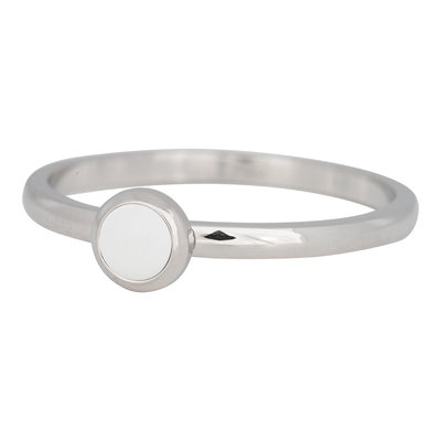 iXXXi Ring 2mm Edelstaal Zilver Bright White