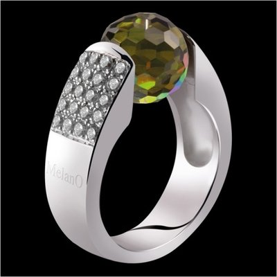 Melano Cat Ring met Zirkonia 12mm Zilver