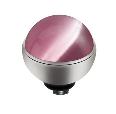 Melano Twisted Cateye Meddy Edelstaal Zilverkleurig Pink