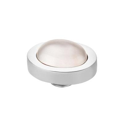 Melano Vivid Meddy Edelstaal Zilverkleurig Sea Shell 10mm