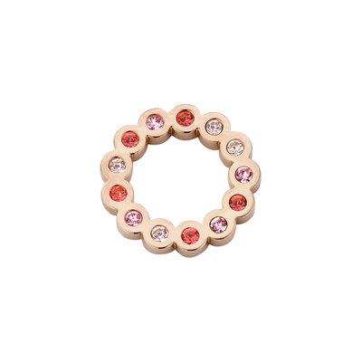 Melano Friends Hanger Jessie Edelstaal Rose Goudkleurig Zirkonia Rose 15mm