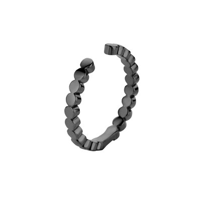Melano Twisted Ring Tina Edelstaal Zwart