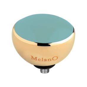 Melano Twisted Resin Meddy Edelstaal Goudkleurig Turquoise