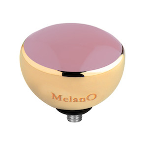 Melano Twisted Resin Meddy Edelstaal Goudkleurig Light Pink