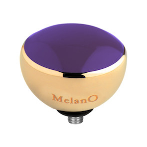 Melano Twisted Resin Meddy Edelstaal Goudkleurig Purple
