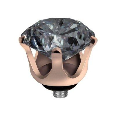 Melano Twisted Crown Edelstaal Meddy Rose Goudkleurig  Antracite