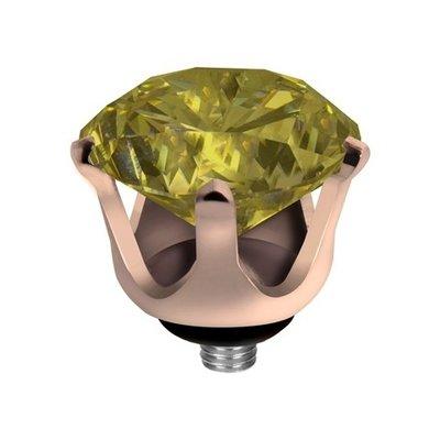 Melano Twisted Crown Edelstaal Meddy Rose Goudkleurig Lime
