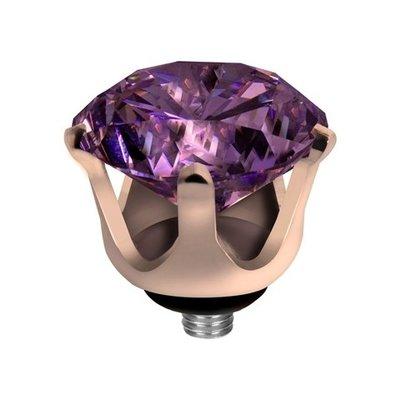 Melano Twisted Crown Edelstaal Meddy Rose Goudkleurig Purple