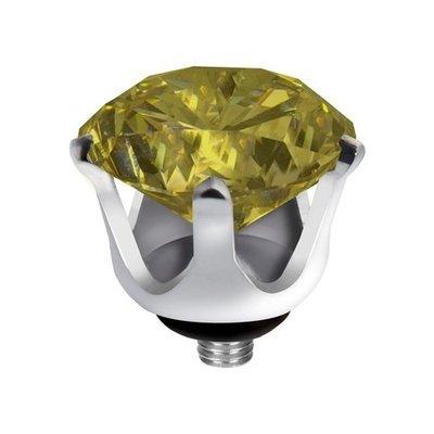 Melano Twisted Crown Edelstaal Meddy Zilverkleurig Lime